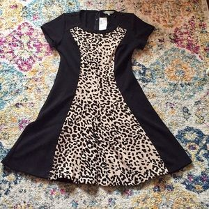 NWT Cleo Leopard Print Dress